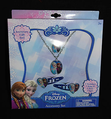 Jewelry Accessory Gift Disney Frozen Elsa Anna New Hair Clips Necklace Ring  8UF