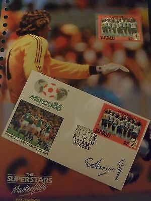 1986 Original World Cup Masterfile F.d.c Signed By Pat Jennings - N.ireland