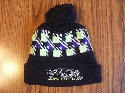 - Arctic Cat Vintage Snowmobile Snow Ski Beanie Cap Winter Tassel Knit Hat -