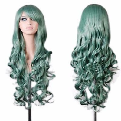 Sexy Women Lady Long Wavy Curly Hair Anime Cosplay Party Full Wig Wigs Fashion