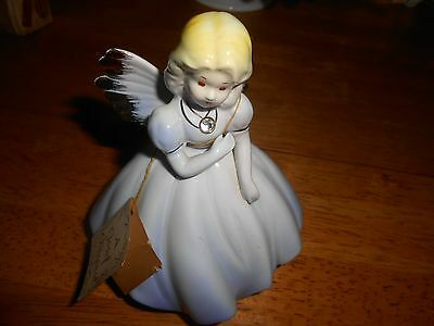 """Josef Originals April Birthday Angel Girl Brown Eyes Signed With  Tag 5.5"""""""