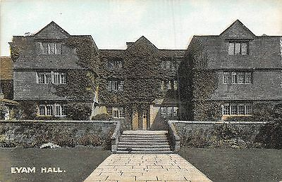 POSTCARD   DERBYSHIRE  EYAM   Hall