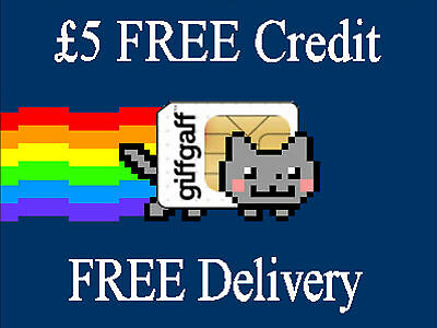 giffgaff - Nano / Micro / Standard - ALL in 1 SIM card with £5 free credit - 149