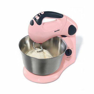 Breville Pick and Mix Stand and Hand Mixer - Strawberry Cream