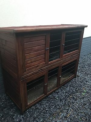 Large rabbit/guinnea/ferret hutch with ladder, run and thermal Cover