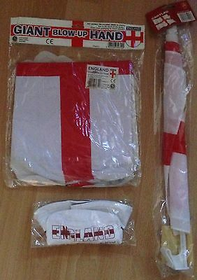England Car Flag, Blow up Hand and a Ben Sherman England Hat