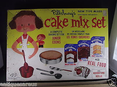 PILLSBURY'S NEW TYPE CAKE MIX SET PETER AUSTIN MFG NO 72a KIT EASY BAKE LIKE