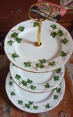 Colclough 'Ivy leaf' China 3 Tier Cake Stand.