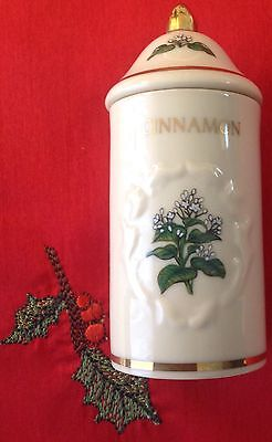 Lenox 1992 Spice Garden Porcelain Spice Jar Cinnamon Collectable Cooking