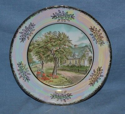 """Vintage Beautiful Plate Currier & Ives Named """"autumn"""" Made In Japan"""