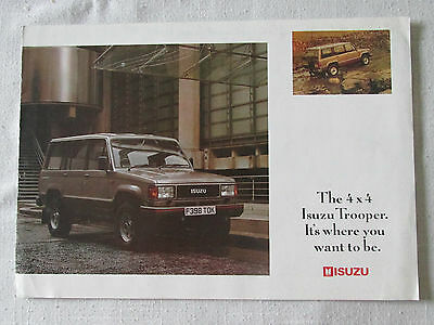 1989 Isuzu Trooper Brochure