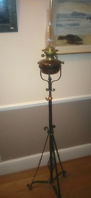 Antique Edwardian Oil Lamp with stand