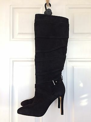 GUESS New Women Fab Real Leather Suede Knee High Boots Heels Shoes 6 UK 39 EU