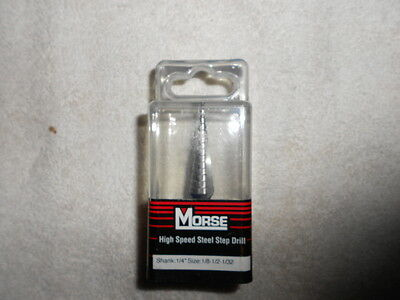 """MK Morse ESD01 Step Drill 1/8"""" to 1/2"""" by 32nds"""