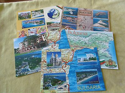 5 Map postcards of Bulgaria