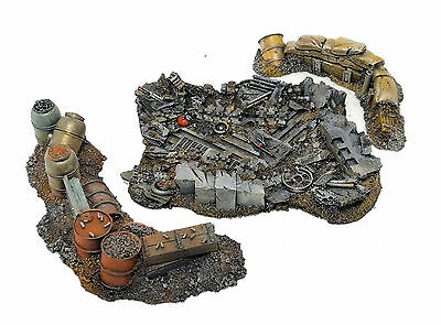 """warhammer 40 k war game scenery """"table top"""" lot pro painted"""