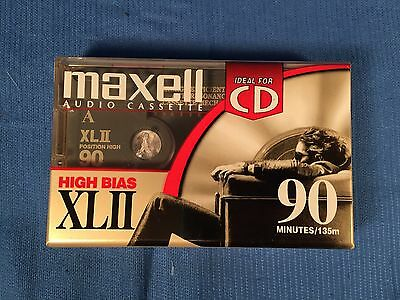 Maxell XLII Position IEC Type II High 90 Minutes Blank Audio Cassette Sealed (1)