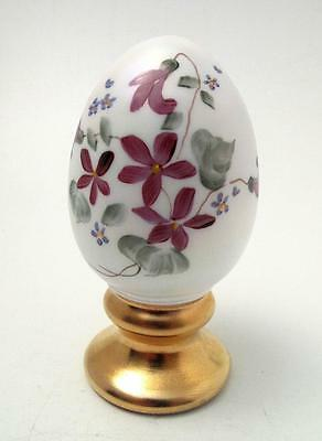Fenton Limited Edition 33/2500 Hand Painted Art Glass Egg Signed Carol Griffiths