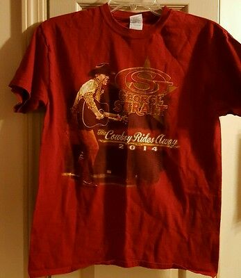 George Strait The Cowboy Rides Away 2014 Concert T-Shirt Mens Size Medium