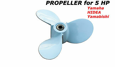 Propeller for 5 HP Yamaha outboard motors 7 1/2 x 7 PARSUN HIDEA