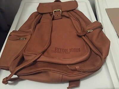 Elton John Limited Edition 1998 World Tour Official Promo Leather Bag/backpack
