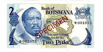 Botswana ... P-2cs ... 2 Pula ... ND(1976) ... *UNC* ... Sign 1 / CS Note