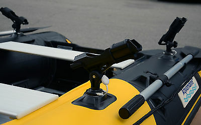 Fishing ROD holder glue on inflatable boat patch star port kit