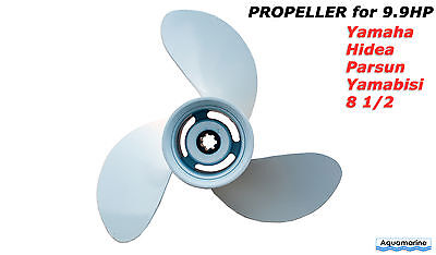 Propeller for Yamaha Hidea Parsun 9.9 HP outboard motors 8 1/2 x 8 1/2