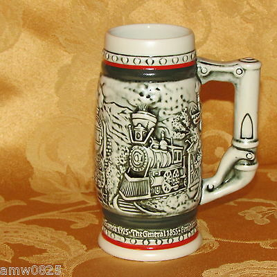 """5 1/2"""" Locomotive Beer Stein 1986 Avon Collectibles Age Of The Iron Horse Trains"""