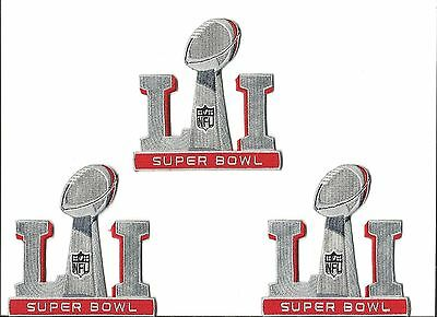 Super Bowl 51 LI Patch New England Patriots lot of 3