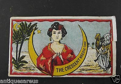 Antique The Crescent Needle Case With Contents