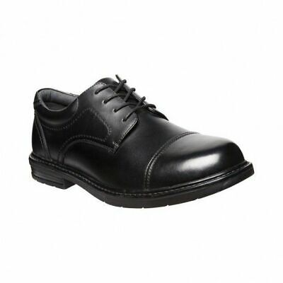 Mens Hush Puppies Darwin Black Leather Extra Extra Wide Lace Up Work Shoes