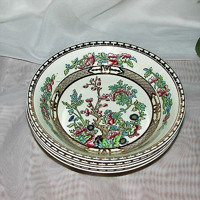 Alfred Meakin The India Tree Soup Bowls 4 Vintage Hand Painted Transferware