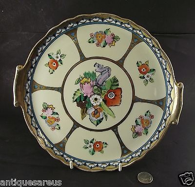 """Adorable 10""""  Noritake Hand Painted Serving Plate With Gold"""
