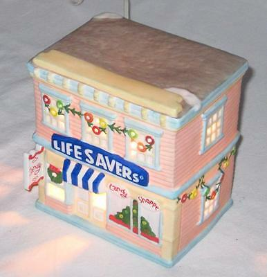 LifeSavers Candy Shoppe Nabisco Collectors Classics- Lighted Ceramic Christmas