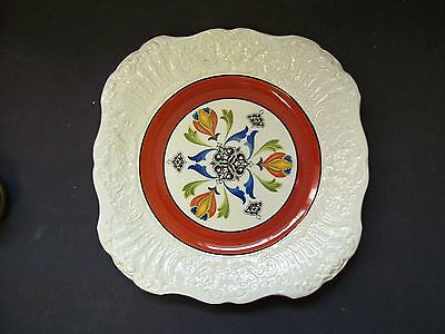 """9"""" Bowood Ridgways Cake Or Cookie Plate Bowood  Renaissance Blue Red"""