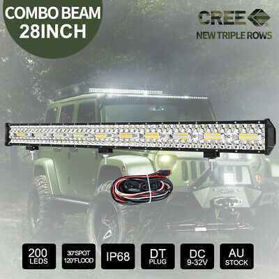 2x 100W 7inch HID SPOT Driving Lights XENON Spotlight Off Road 4x4 12V Silver