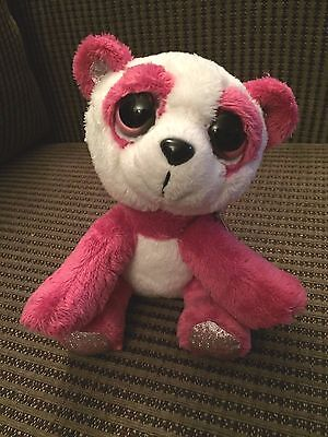 "ORCHID by RUSS Lil Peepers Plush - Pink White Panda Bear Stuffed Animal - 6"" NWT"