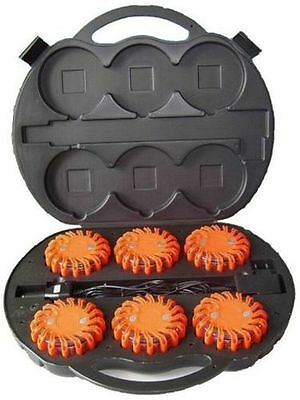 SUPREME SAFETY 6 Pack LED PowerFlare Safety Emergency Flares Rechargeable