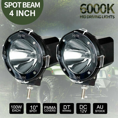 "4 inch 200W Spot HID Driving Lights Offroad Fog Work Driving 12V vs 7"" Halogen"