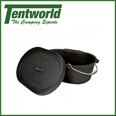 Campfire Pre-Seasoned Camp Oven 10 Quart - Oval