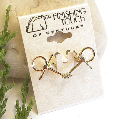 Horse & Western Jewellery Jewelry Tom Thumb Bit  Stock Pin Brooch - Gold