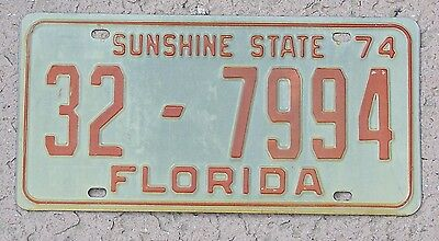1974 Florida License Plate Indian River County Tag
