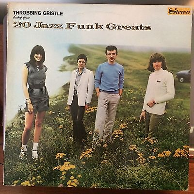 Throbbing Gristle 20 Jazz greats  original vinyl record and poster