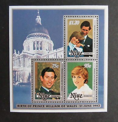 Niue 1982 Birth of Prince William of Wales (1st series) MS MNH