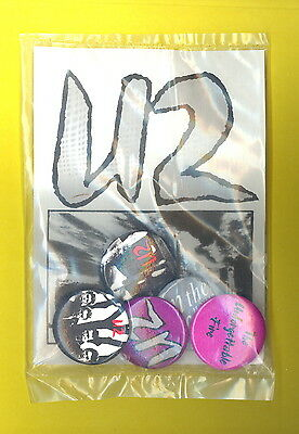 U2 1985 full set of 5 pinback badge pin button UNFORGETTABLE FIRE sold on tour