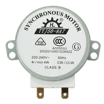 Microwave Turntable Turn Table Synchronous Motor TYJ50-8A7 D Shaft 4 RPM
