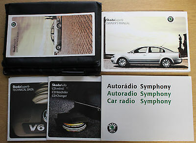 Skoda Superb Handbook Owners Manual Wallet 2001-2008 Pack 12868