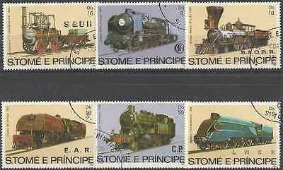 Timbres TRAINS St Thomas et Prince 721/6 o (1527)