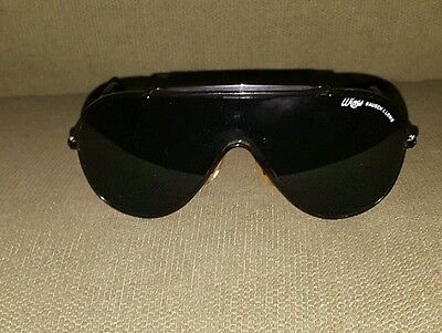 Vintage Blk On Blk Wings Ray-Ban Bausch&lomb Sunglasses Made In Usa